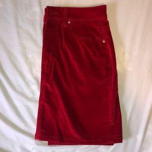 Forever21 Denim velvet skirt
